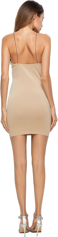 jastie Womens Seamless High Platform Slip Dress