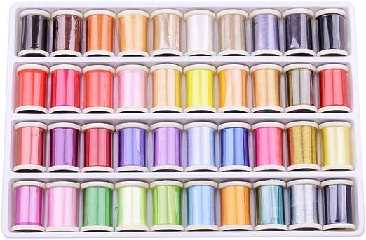 H.Y.FFYH El Hilo de Punto de Cruz Floss 50 Colores de Coser del ...