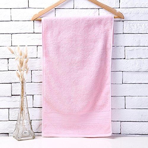 Mano towel-cotton adulto toalla de lavado de engrosamiento Water Softening máscara facial Toalla 75 * 35 cm/120 G, Rosa: Amazon.es: Hogar