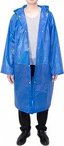 Vancool Moda duradero EVA Lluvia capa de lluvia del poncho Unisex Hombres Mujeres con capucha y mangas, reutilizable, portátil, plegable.