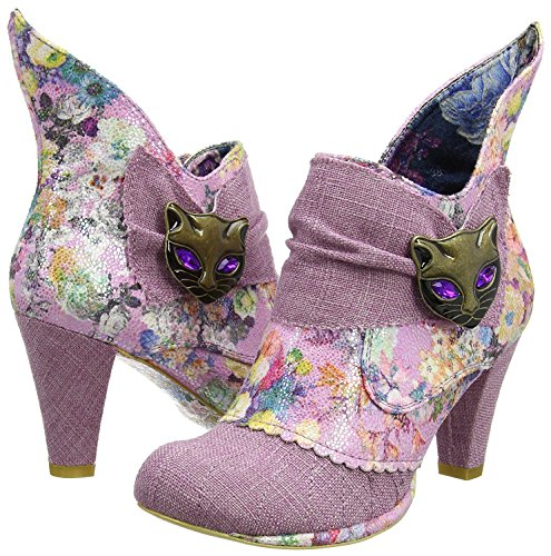 Irregular Choice Miaow Rose Multicolore Femmes Bottines Chaussures