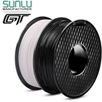 GT PLA Filament 1.75 mm 3D Printer Filament (Black+White)