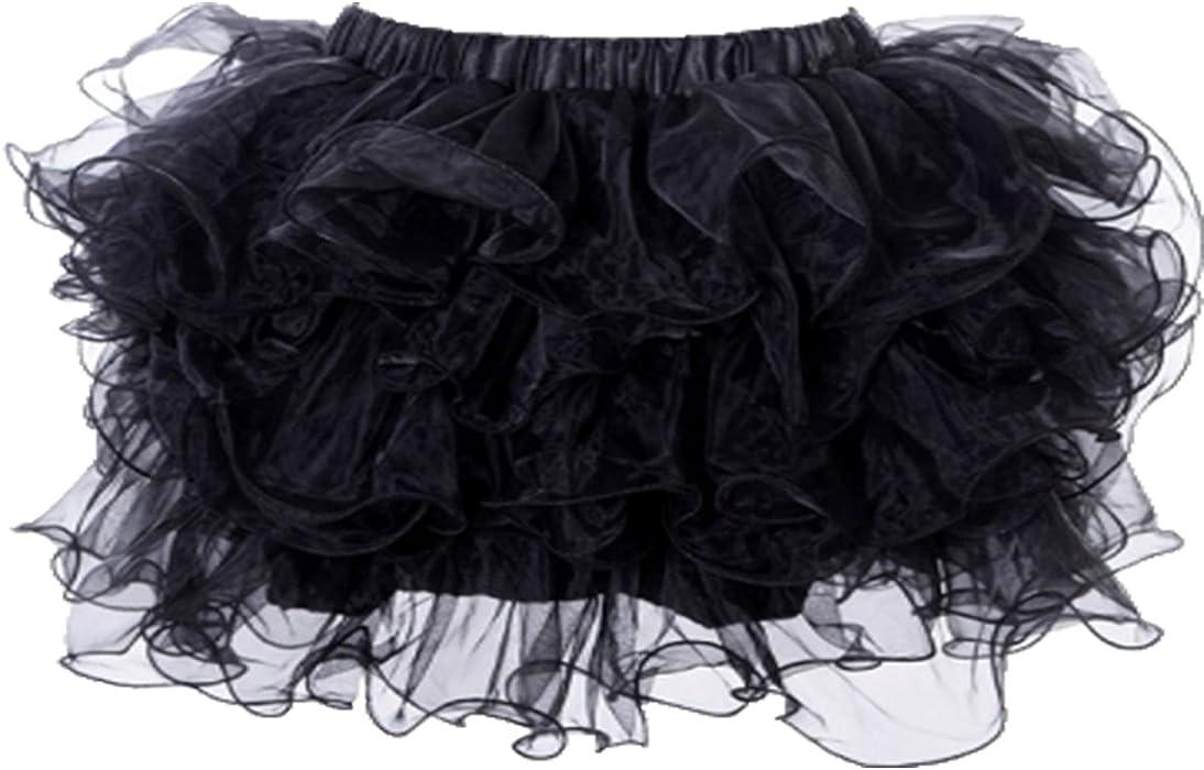 2f60b9d92b50e Yummy Bee Womens Frilly Tulle Tutu Skirt Burlesque Ra Ra Costume Plus Size  Black