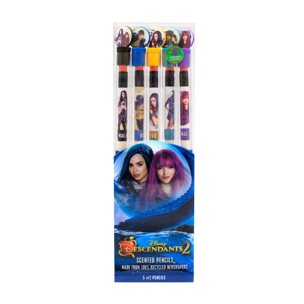 Disney Descendants Smencils 5-Pack of HB #2 Scented Pencils