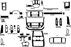 Rvinyl Rdash Dash Kit Decal Trim for Dodge Ram 2006-2008 (2500/3500) - Wood Grain (Burlwood Dark)