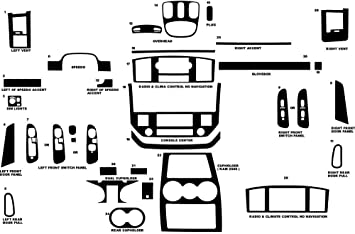 Rvinyl Rdash Dash Kit Decal Trim for Dodge Nitro 2007-2011 Wood Grain Burlwood Honey