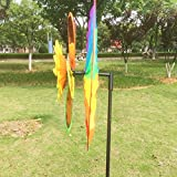 Techinal 1Pcs Decorative Garden Windmills, Sunflower Windmill Wind Spinner Rainbow Whirligig Wheel For Home Lawn Yard Decor