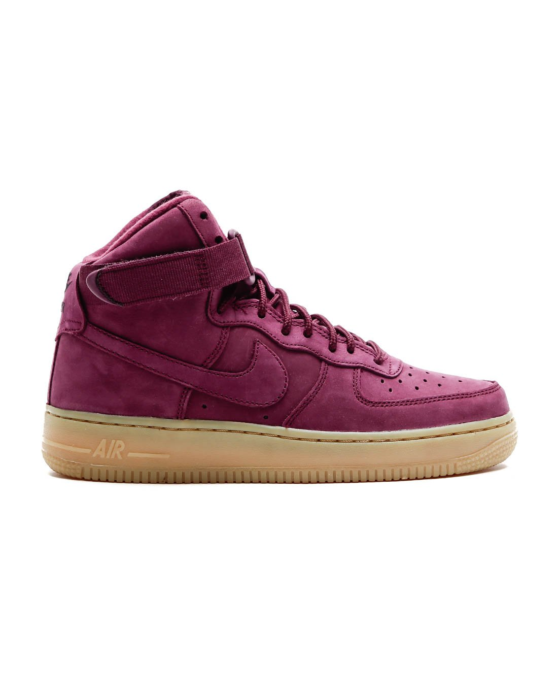 Galleon - Nike AIR Force 1 HIGH WB (GS) Girls Fashion-Sneakers 922066-600 5Y  - Bordeaux Bordeaux-Gum Light Brown-Black bca5e7392