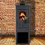 Stufa-a-legna-7kW-antracite-acciaio-riscaldamento-ambienti-casa-EKONOMIK-LUX-LM