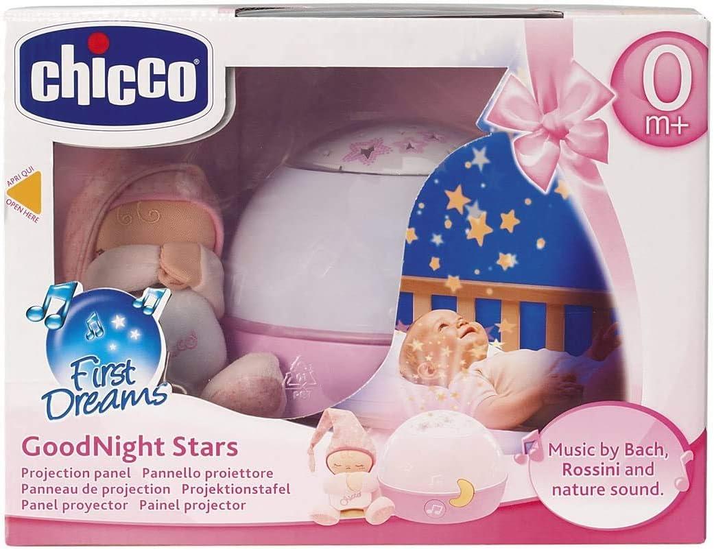 Chicco buenas noches estrellitas - proyector con efecto de luces y melodías, color rosa