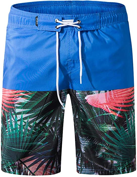 6f502cbde77 Amazon.com: Mens Swim Trunk Summer, Mens 3D Graphic Print Quick Dry Summer  Holiday Party Beachwear with Zipper Pocket No Mesh Amiley (Small, Blue):  Clothing