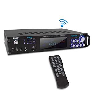 Multi Channel Bluetooth Power Amplifier - 3000 Watt Audio Rack Mount Home Speaker Sound Stereo ReceiverFM Radio, USB, Headphone, RCA, Dual Microphone w/ Echo, LED, Wireless Streaming - Pyle P3001BT