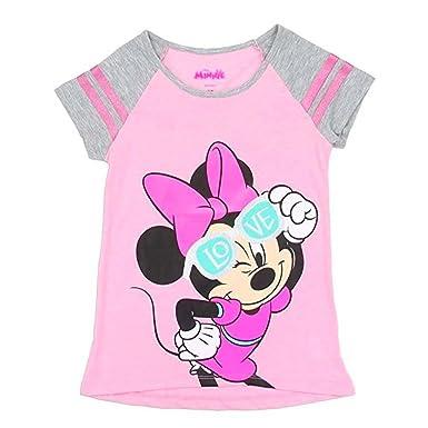 b631b51a778 Amazon.com  Pink Glitter Minnie Mouse Girls Toddler T-Shirt. Sizes 2 ...
