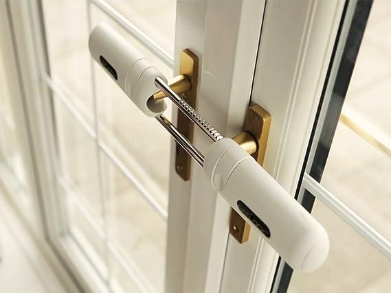 Candado interior Patlock para puerta de patio/francesa de doble cerradura Puerta instantánea francesa y seguridad de invernadero. Sin llaves o códigos.