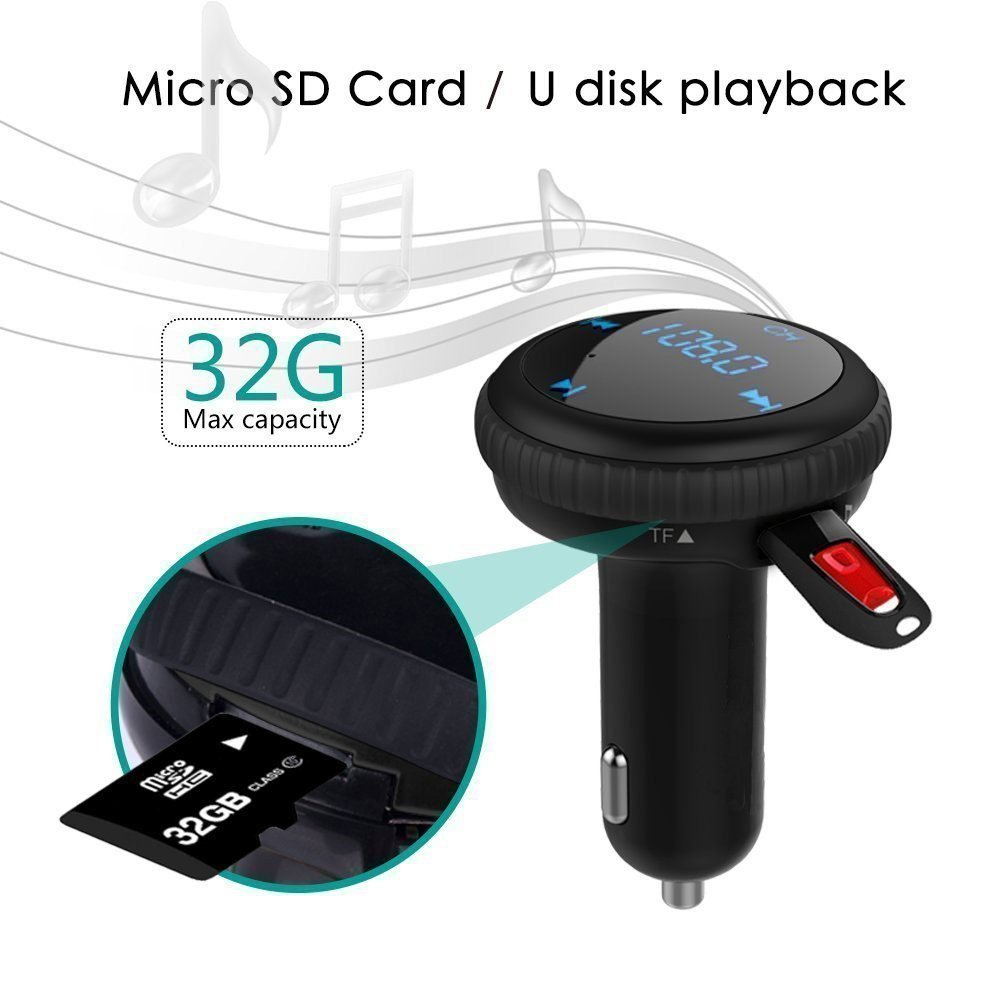 Bluetooth Fm Transmitter Wireless Handsfree Car Kits Bt20 Dual Usb Charger Mp3 Wma Audio Hands Free Call 5v 34a Support Tf Card Music Pl Electronics