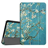 Fintie Slim Shell Case for Samsung Galaxy Tab A 10.1, Super Slim Lightweight Standing Cover with Auto Sleep/Wake Feature for Tab A 10.1 Inch (NO S Pen Version SM-T580/T585/T587) Tablet, Blossom