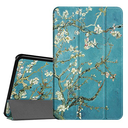 Fintie Slim Shell Case for Samsung Galaxy Tab A 10.1 (2016 NO S Pen Version), Super Slim Lightweight Standing Cover with Auto Sleep/Wake for Tab A 10.1 Inch (SM-T580/T585/T587) Tablet, Blossom (3 Samsung Tab Galaxy Cased)