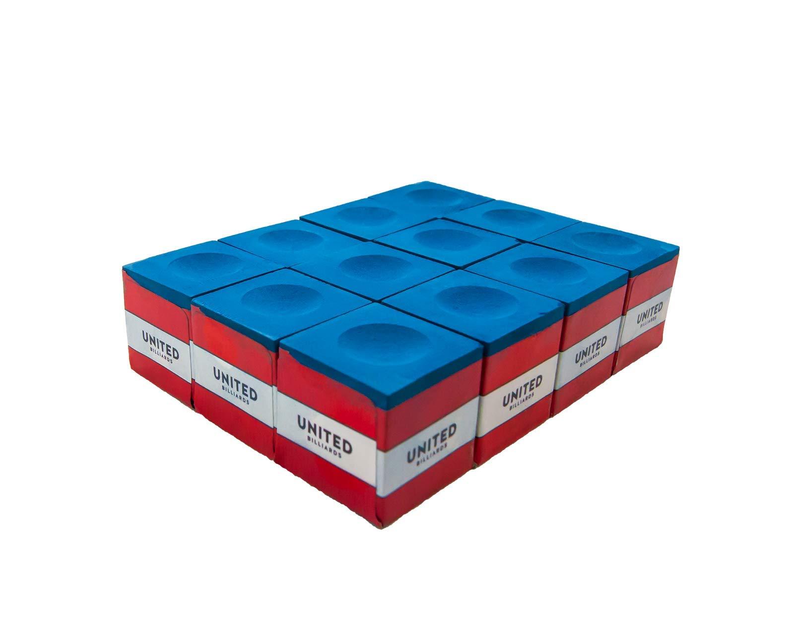 Billiard//Pool Cue Chalk 12 Cubes Blue ,Billiard Accessories