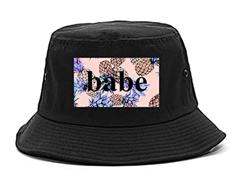 Amazon.com  Pineapple Babe Fruit Bucket Hat Black  Clothing 98e90e62139