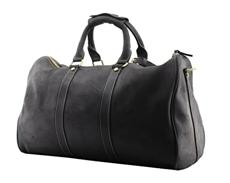 22d00047d9a Amazon.com | Jiao Miao Leather Travel Duffel Bag Overnight Weekend ...