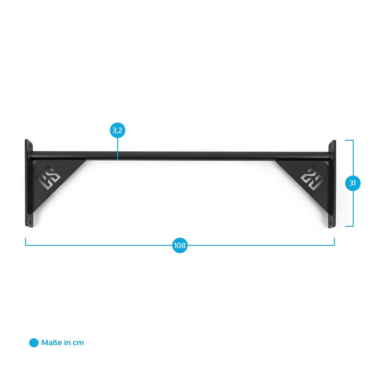 Ideal para la ampliaci/ón de racks existentes, muscle ups, pull-ups y T2B Capital Sports Single Bar 108 Barra para flexiones 108 cm met/álica negro