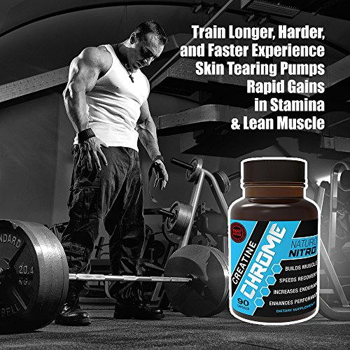 Creatine individual packets. Naturo Nitro Creatine Chrome with Magnapower™ - Rapid Muscle Gain, Increased Muscle ATP and Cell Volumization, 90ct, 30 Day Supply