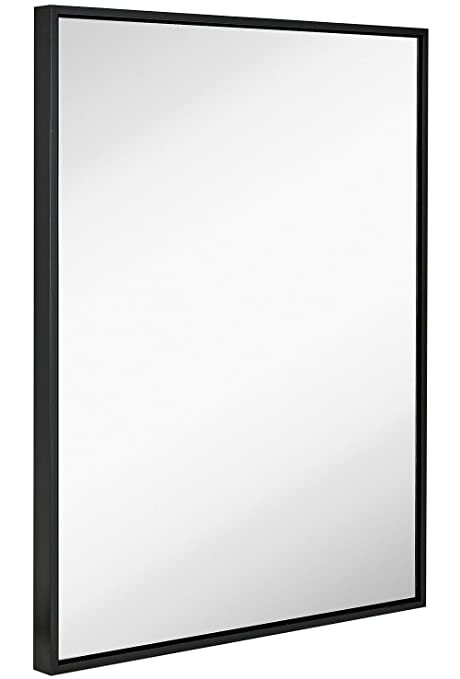 Amazon.com: Hamilton Hills Clean Large Modern Black Frame Wall ...