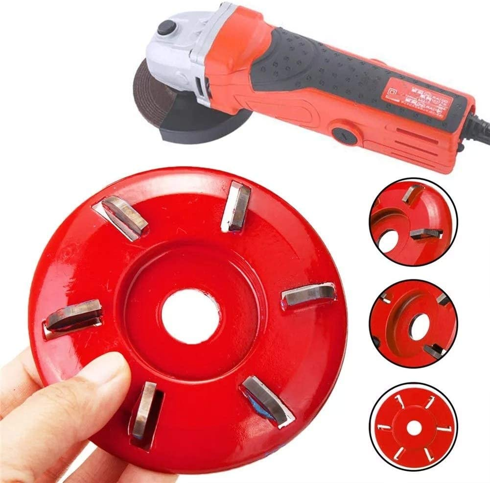 Ctghgyiki 16mm Aperture Angle Grinder Woodworking Wood Carving Disc Tool Six-Tooth Blade Woodworking Tools Color : Black