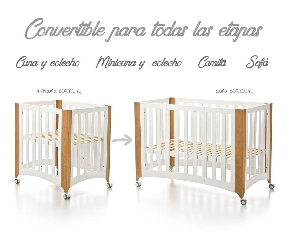 Bolin Bolon Pack Cuna-minicuna colecho SUECIA completa ALBA CELESTE: Amazon.es: Bebé