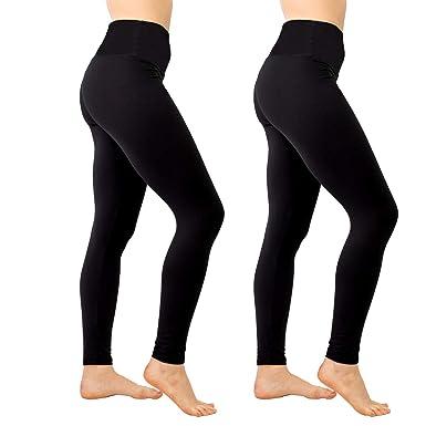 964549069f3a9a SOOVERKI High Waist Leggings for Women Soft Yoga High Waist,Elastic and  Slimming 1 Pair