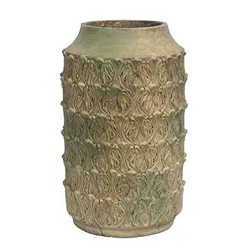 Benzara cemento macetas Benzara con estilo de forma inteligente cemento pot 12 x 20 x 12