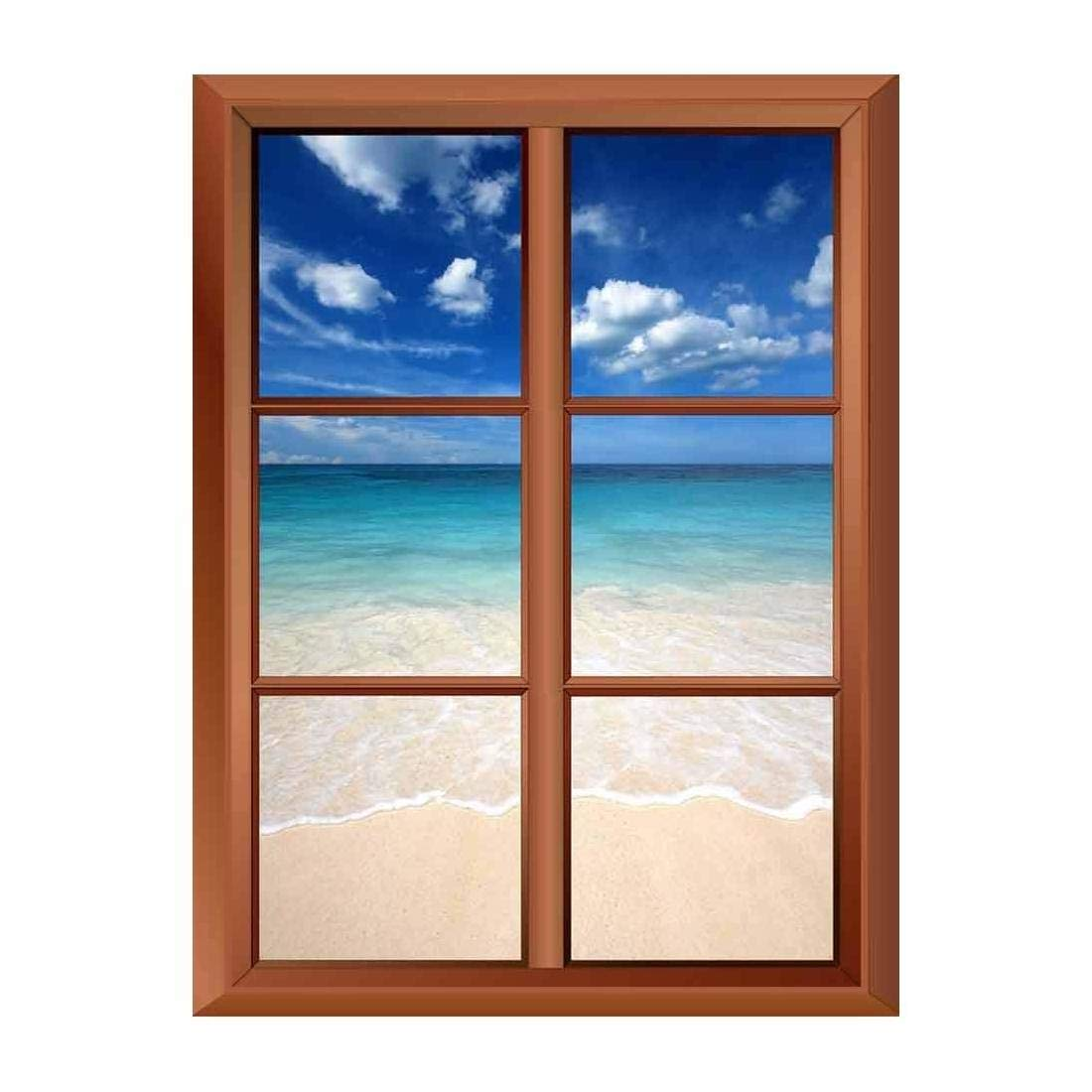 Removable Wall Sticker Wall Mural Tropical Beach and Clear ...