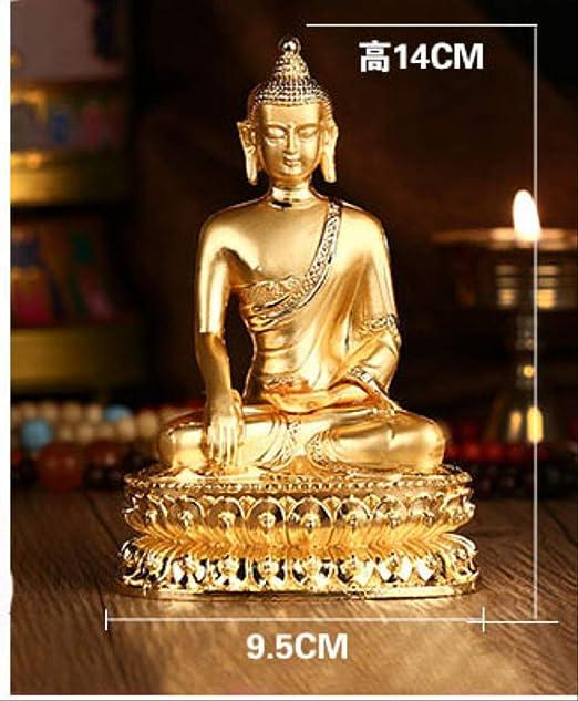 LKXZYX Boda Decoracion Buda budas Figuras de Grandes Salon candelabros Jardin Exterior Exquisito Budismo Tibetano Pequeña Estatua de Buda Buda Dorado Estatua de Buda: Amazon.es: Hogar