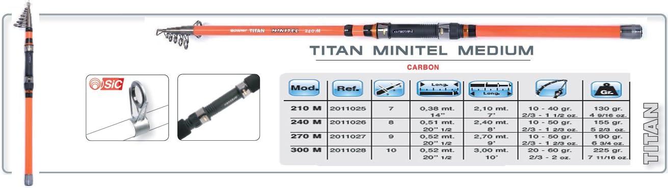 CAÑA GRAUVELL TITAN MINITEL 210 M: Amazon.es: Deportes y aire libre