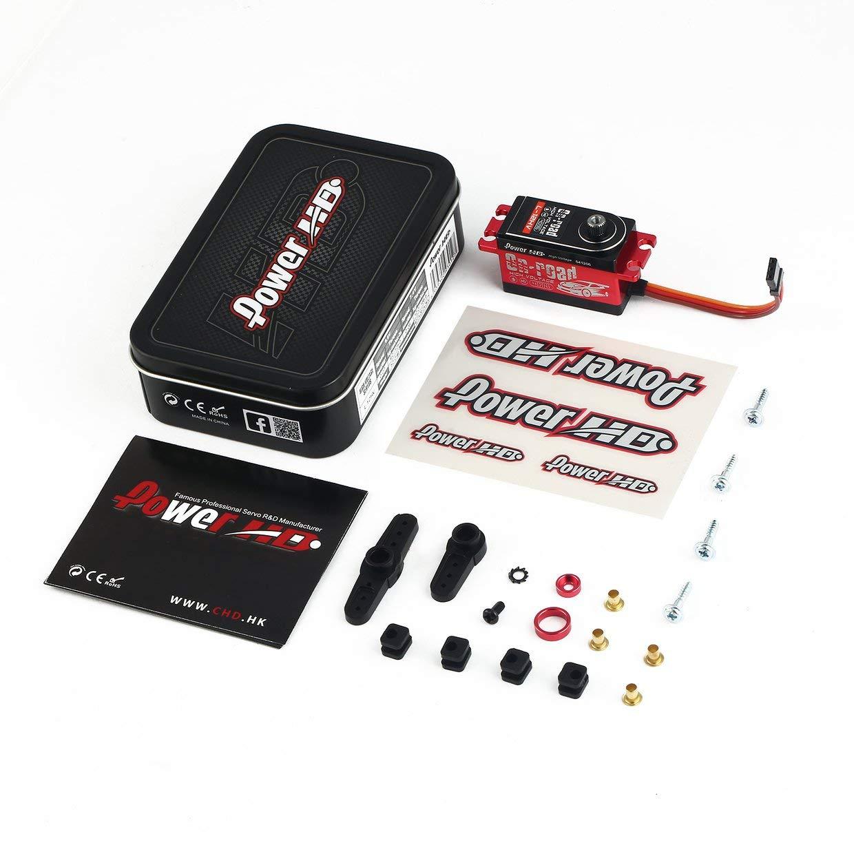 Qewmsg Power HD L12HV HV 12 kg Legierung Getriebe Coreless Digital Servo für RC Auto Drift Auto
