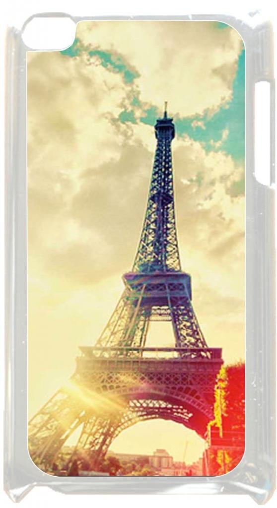Eiffel Tower Case for the Apple Ipod 4th Generation-Hard White Plastic