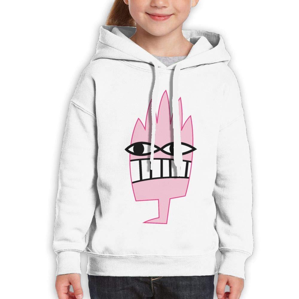 Pink Funny Monster Childrens Hoody Print Long Sleeve Sweatshirt Girl