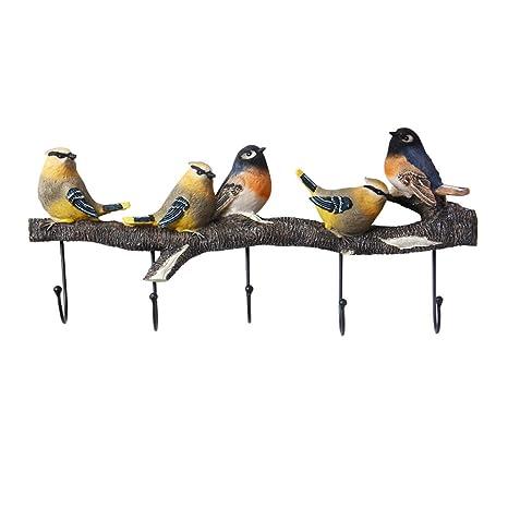 WZLDP Gancho Americano decoración Creativa pájaro Gancho ...