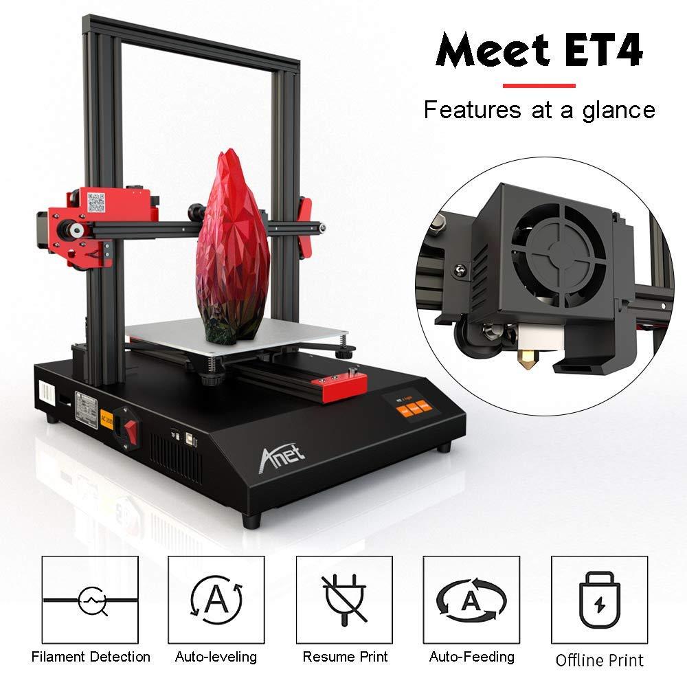 Anet ET4 Impresora 3D premontada Nivelación automática del lecho ...