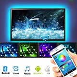 """5V USB Powered LED Lighting Strip TV Backlight Multi RGB Color with Android IOS Bluetooth Controller for 30""""to 60"""" Flat Screen Monitor HDTV HYADA (79 inches 120 LEDs ,RGB Phone APP Remote)"""