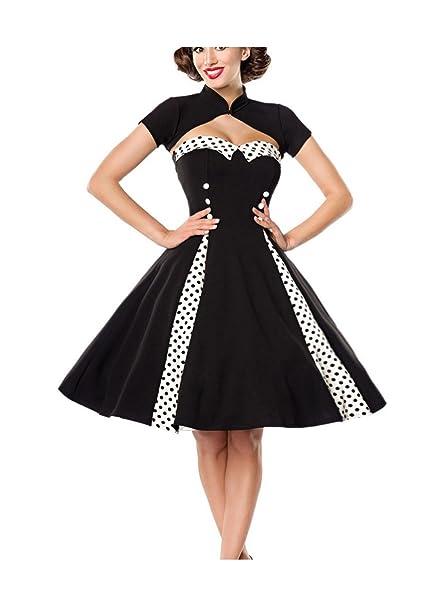 Belsira Damen Vintage-Kleid mit Bolero im Retro-Style  Amazon.de  Bekleidung 0b2925da31