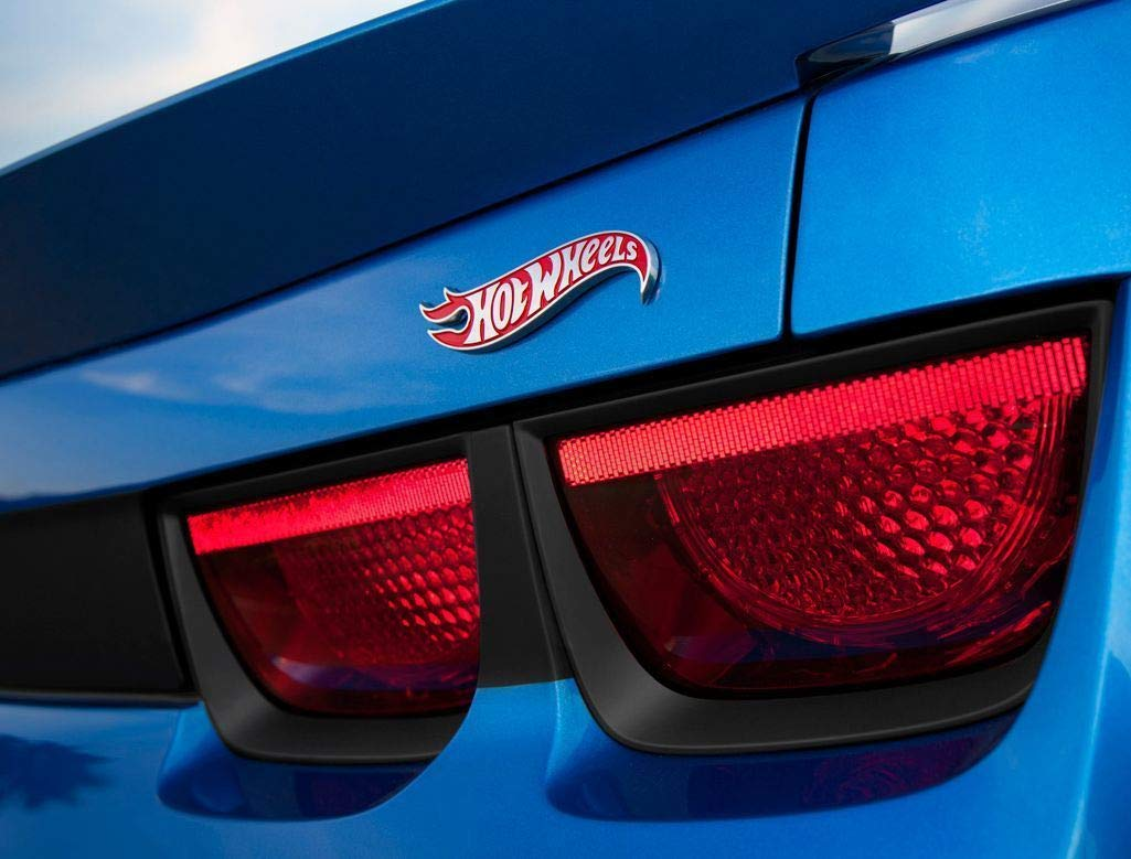 2pcs OEM Camaro Hot Wheels Edition Deck Lid Emblems Badge Hotwheels Genuine Black QUK