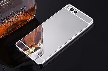 Estuyoya Xiaomi MI6 Funda Espejo, Carcasa Trasera [Marco de Aluminio] Bumper Mi6 Lámina Trasera PC Efecto Espejo [Ultra Resistente] Anti Choque - ...