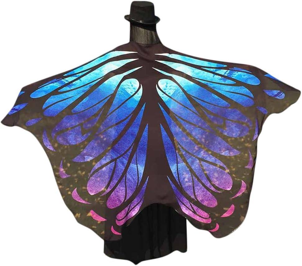 Xmiral Disfraz para Mujer Chal de Alas de Mariposa Costume para ...