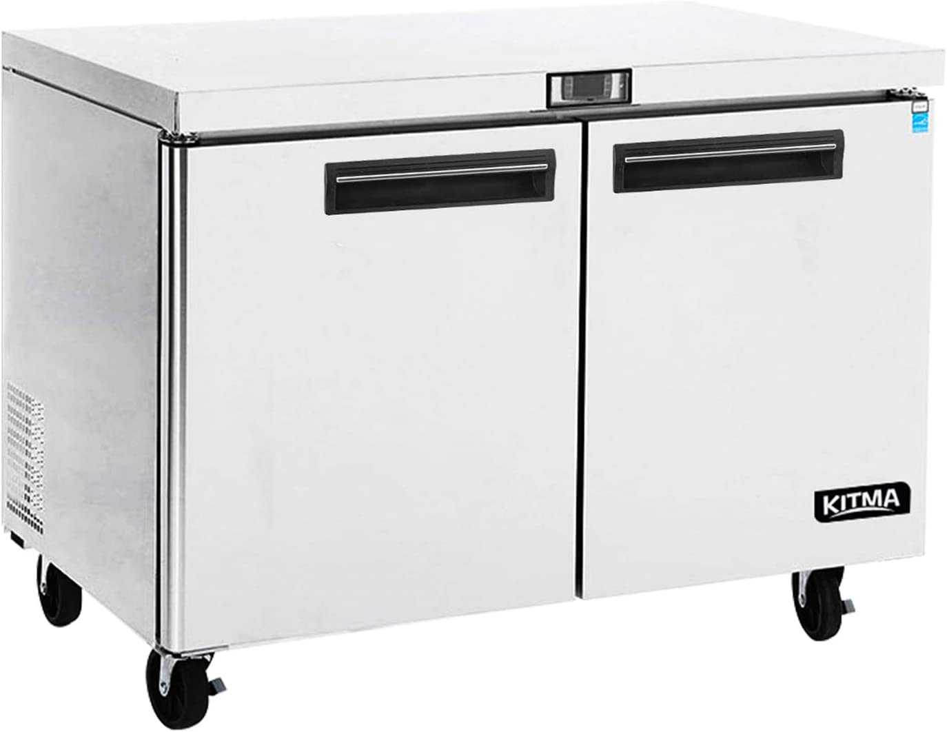 Commercial 2 Door Undercounter Freezer - KITMA 13 Cu. Ft Stainless Steel Worktop Freezer for Kitchen, 0°F - 8°F 61gJkpUralL