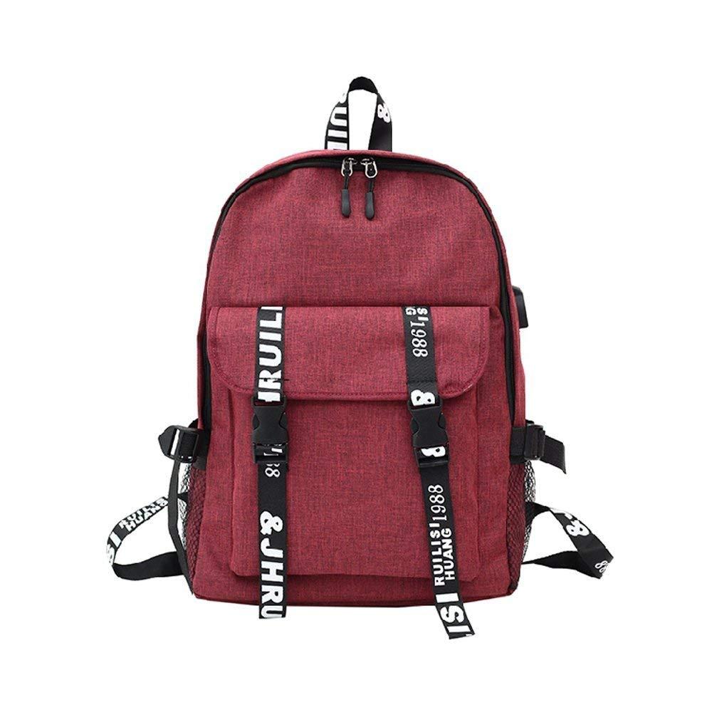 621ff3aa81 JYKJ Zaino per Studenti, con interfaccia di Ricarica USB Zaino Zaino Zaino  per Scuola Superiore Borsa per Studenti ( Colore rosso ) 558690
