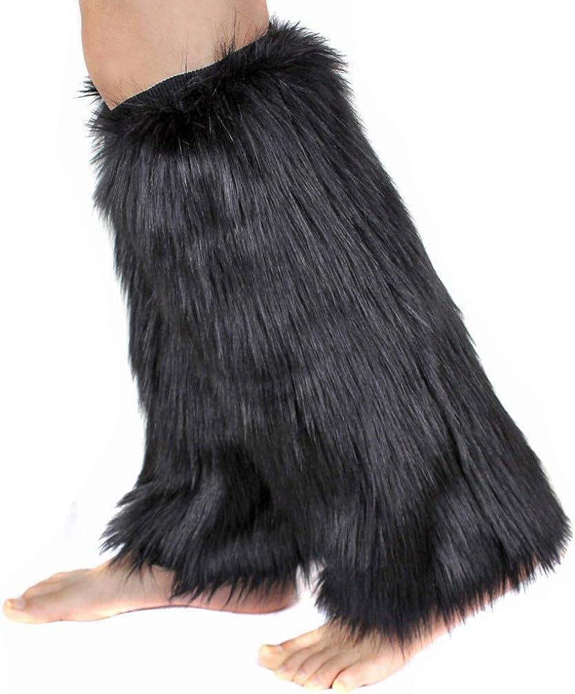 OMO Leg warmer 1par mujeres Soft Cozy Fuzzy botas de pelo sintético calentadores puños cubierta