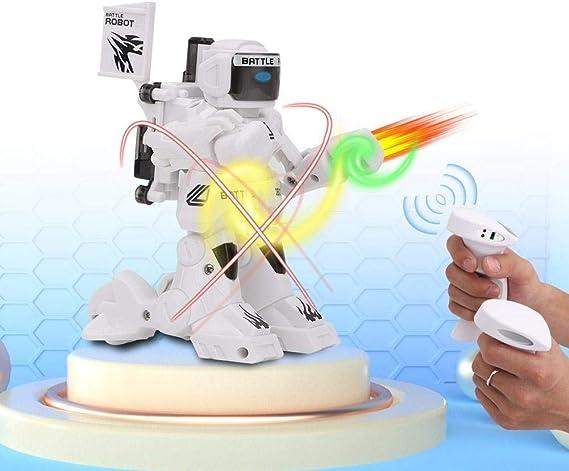 Wesxm Control Remoto Robot de Boxeo 2.4G Sensor de Movimiento Control Remoto Robot de Lucha Iluminación Infantil Robot RC Inteligente con luz LED, for niños niñas (Color : White): Amazon.es: Hogar
