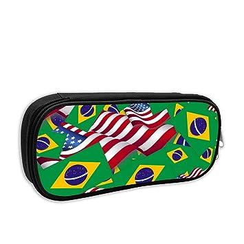 Bandera de Brasil con la Bandera de América Estuche de ...