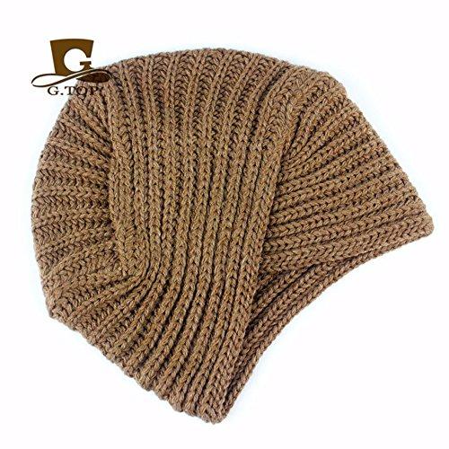 Sombreros Para licht Hecha De A Sombrero La OSISDFWA Mano Moda Sombreros kaffee Punto Gorros Black Baotou De Baotou India 0qT84gw